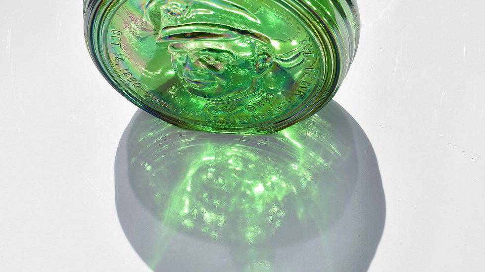 Wheaton Carnival Green Glass