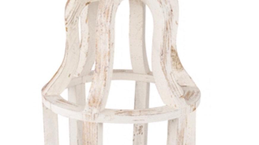 Farmhouse Crown Wood Lantern