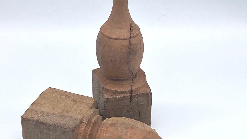 Wooden Finial Decor
