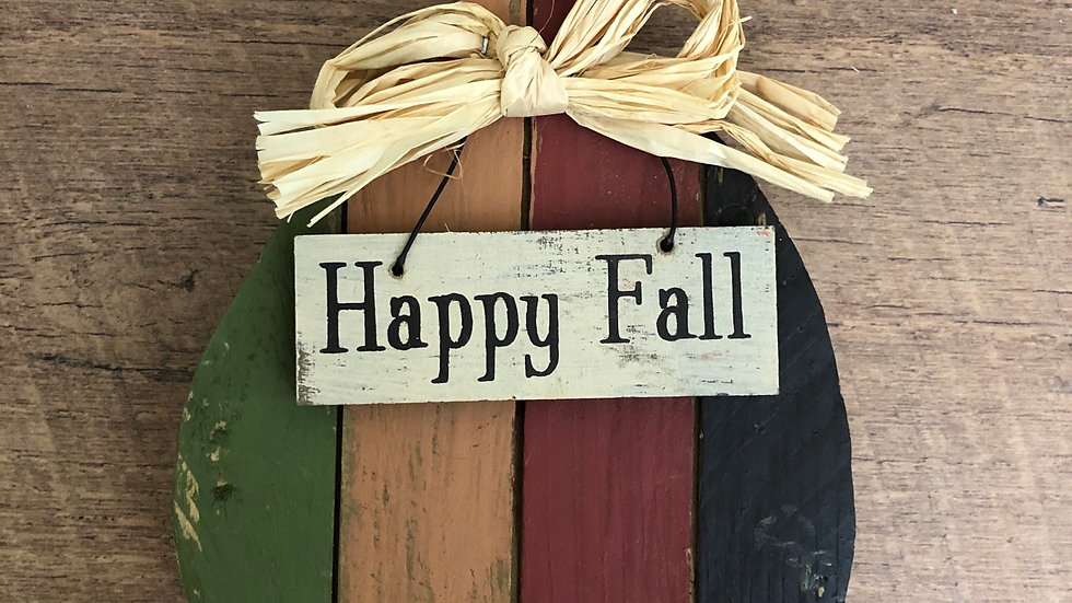 Lil' Wooden Happy Fall Tabletop Decor