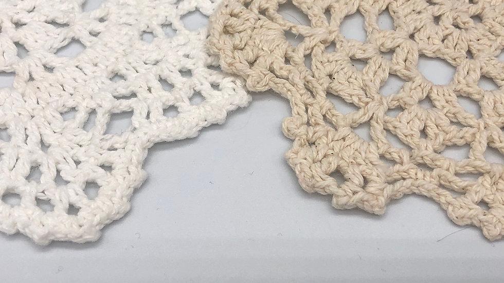 Handmade Crocheted Cotton Coasters