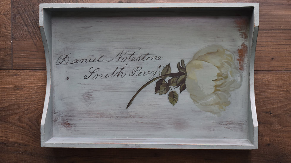 Chalk Hand Painted Tray