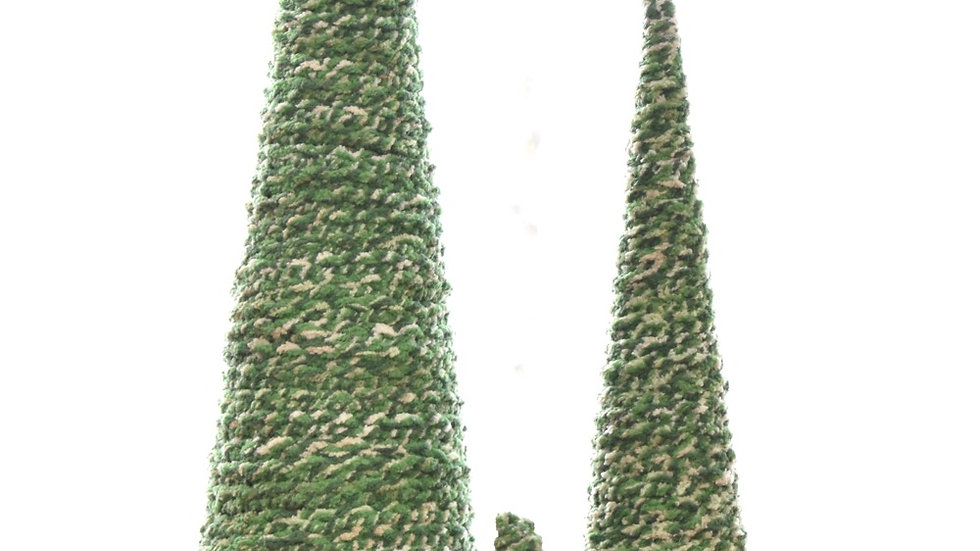 Set of Three Handmade Yarn Trees