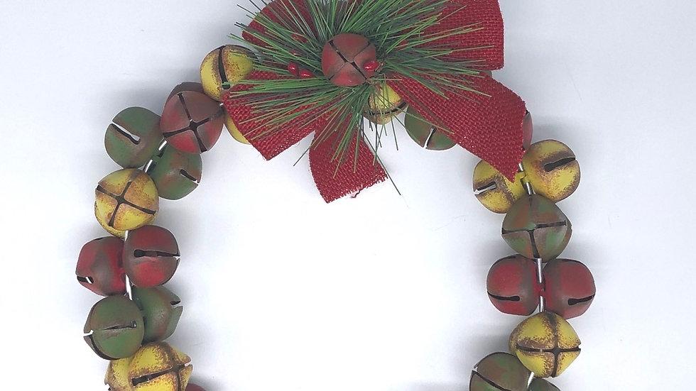 Multi-color Jingle Bell Wreath
