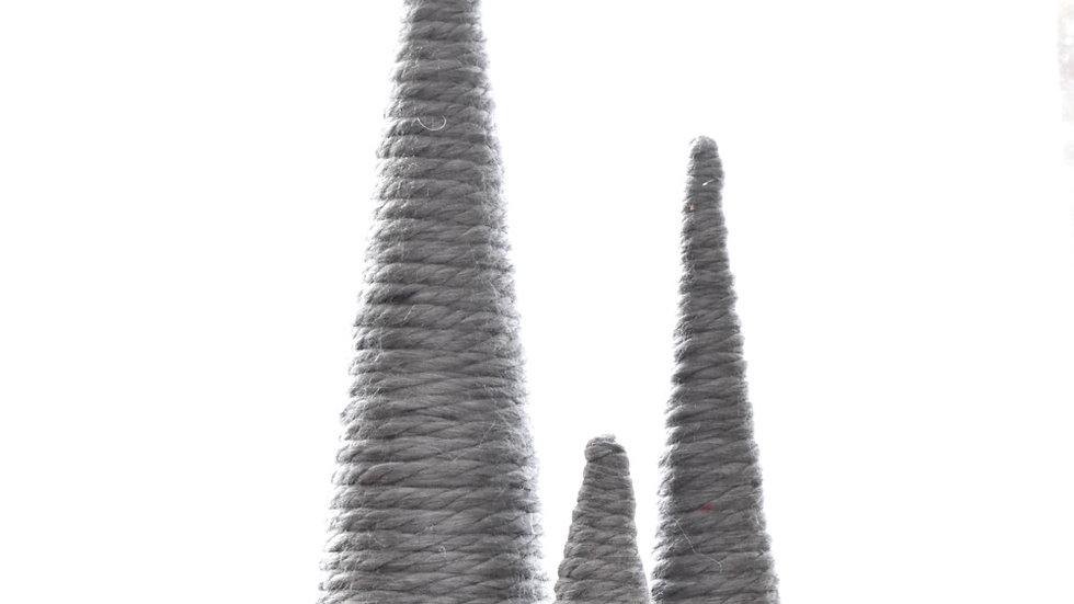 Set of Three Homemade Yarn Trees