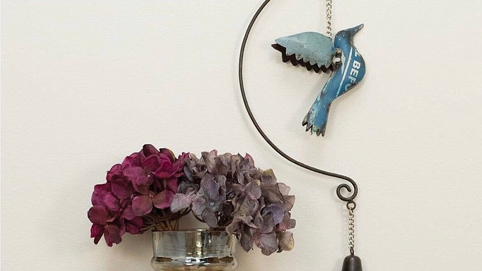 Hanging Garden Bell with Bird