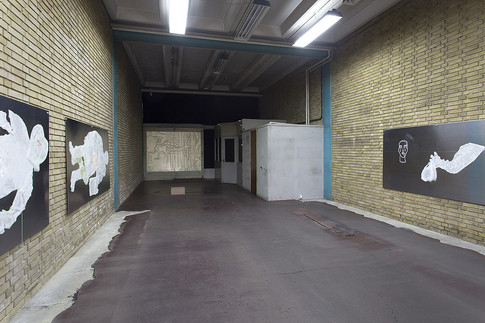 installation shot with work by Marie-Louise Vittrup