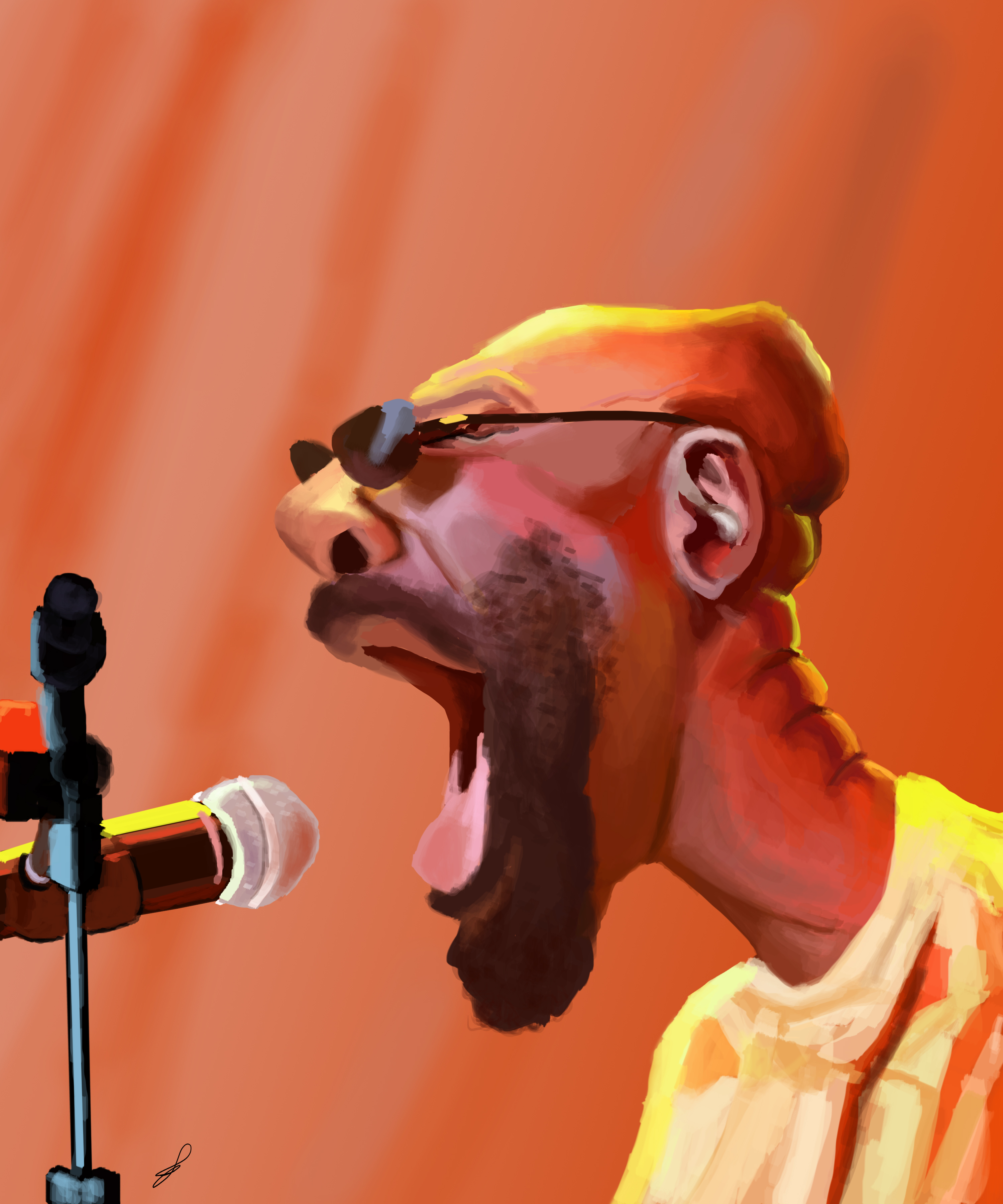 Isaac Hayes Caricature