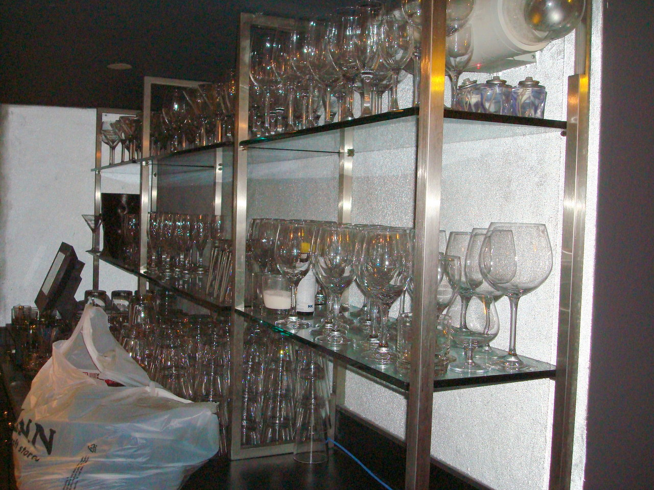 Stainless Steel & Glass Shelving