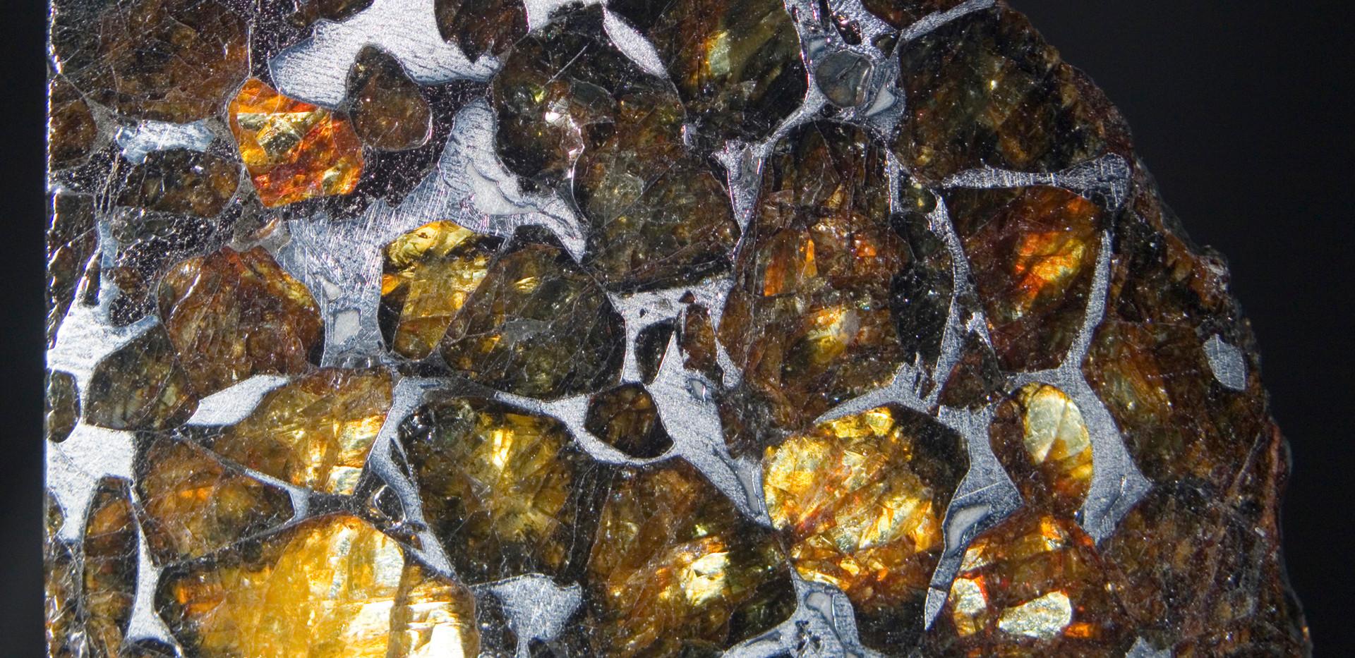 Pallasite Meteorite, Imilac, Back.  4.3 cm x 3 cm SMIM04