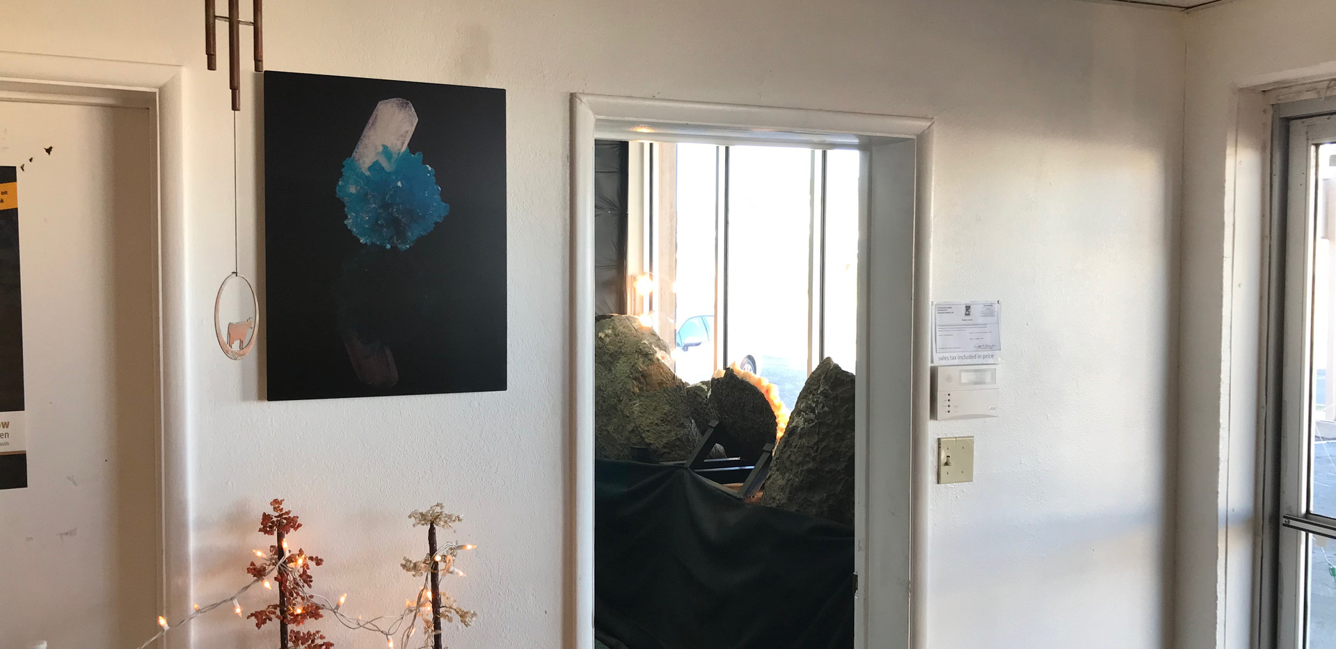 'Floating' by Studio Mineralia installed at Superb Minerals, Tucson, Arizona