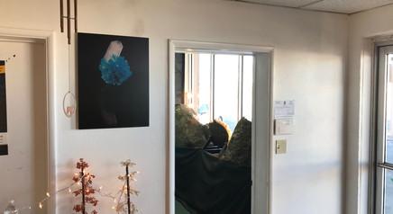 'Floating' by Studio Mineralia installed at Superb Minerals, Tucson, Arizona