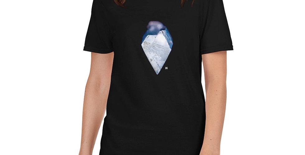 Blue Heart: Aquamarine Crystal Short-Sleeve Unisex T-Shirt