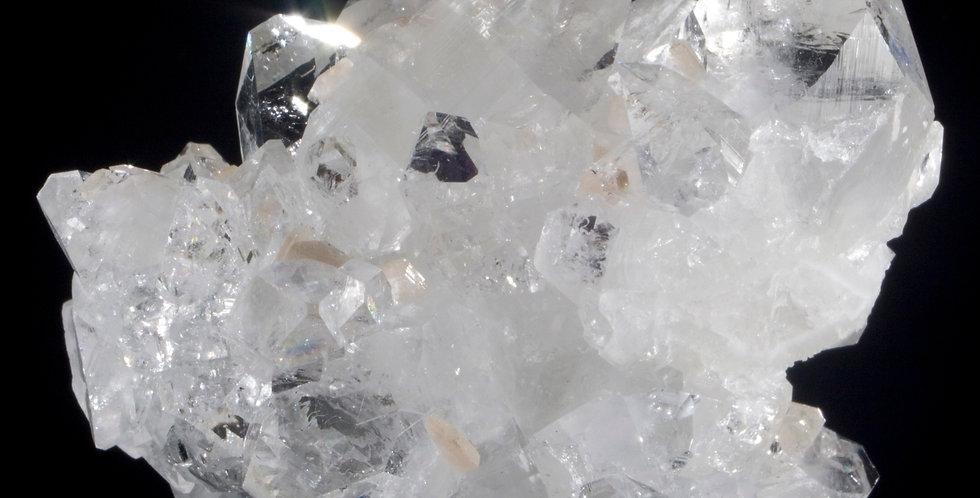Perfect, Sparkling Apophyllite with Miniature Stilbite
