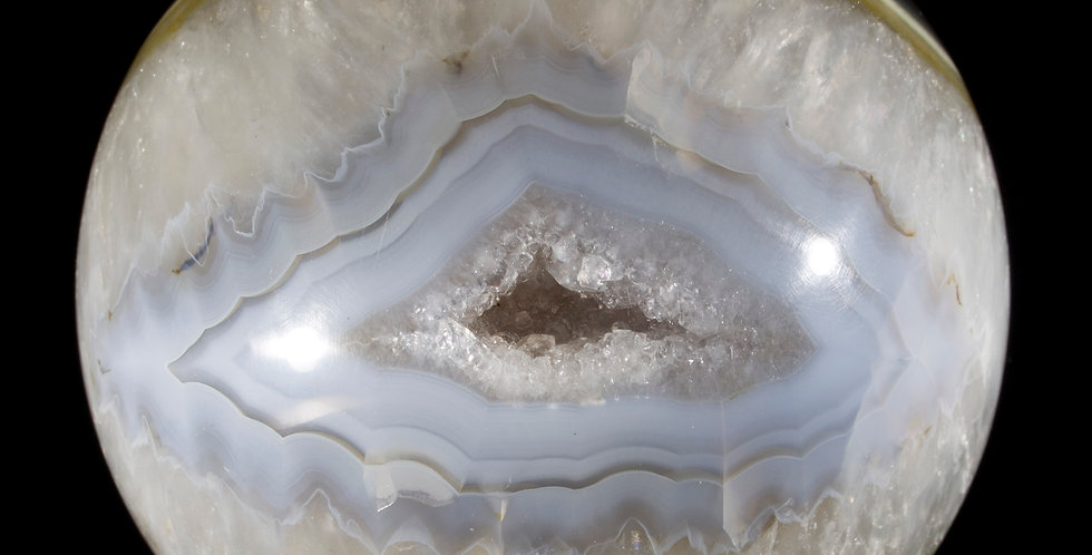 The Eye of India, an Evocative Agate Sphere. Studio Mineralia, Earth Art Gallery. Crystals, Minerals Fashion & Art