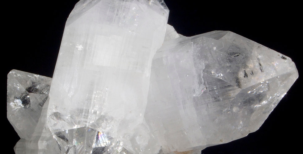 Clear Double-Terminated Apophyllite Cluster