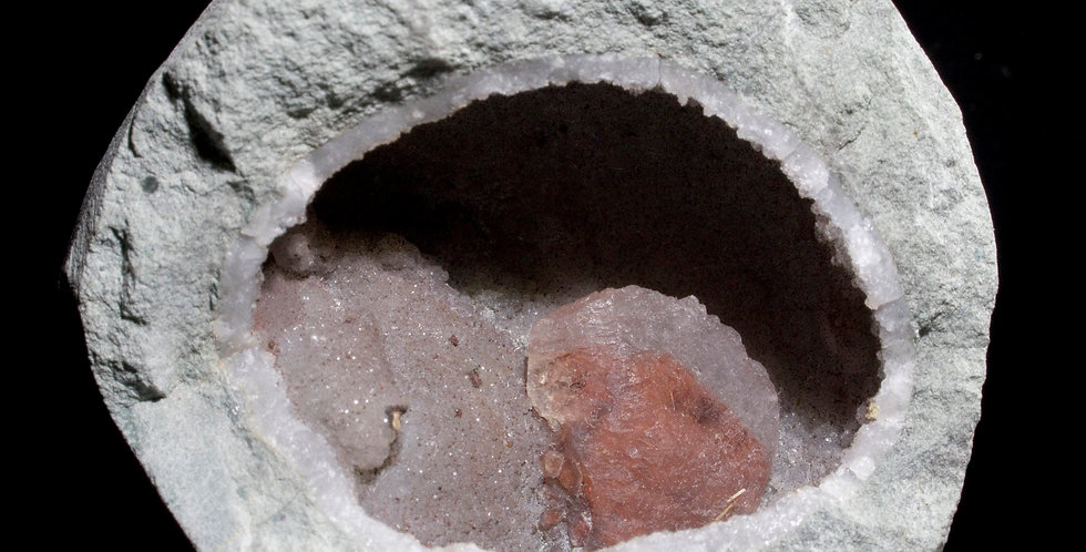 Calcite in Matrix Geode