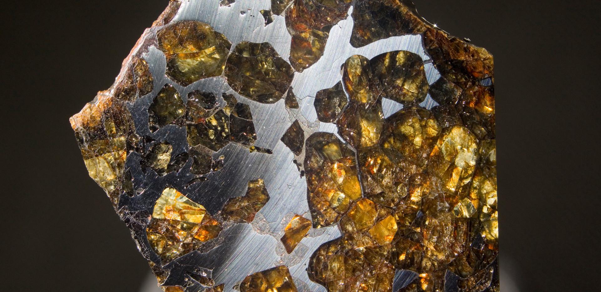 Pallasite Meteorite Imilac, Back. 4 cm x 4 cm 13 grams SMIM05