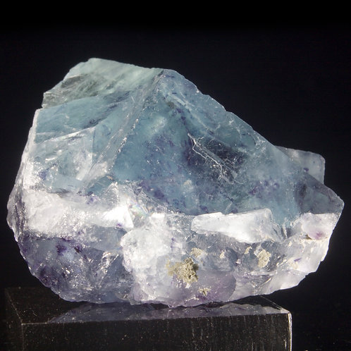 A fantastic Fluorite cluster with fascinating surface features on remarkably transparent window facets revealing zones