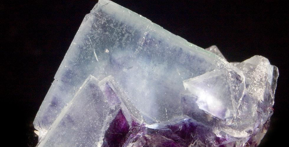 Purple Zoned Yaogangxian Fluorite Miniature, nice luster, multiple purple phantoms.