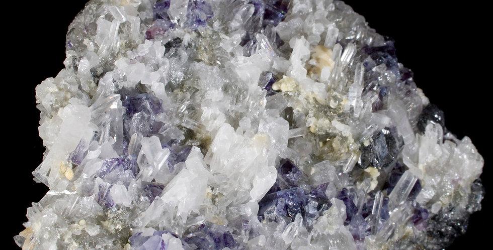 A mineral symphony! Quartz, Fluorite, Wolframite and Siderite create a compelling matrix specimen fr