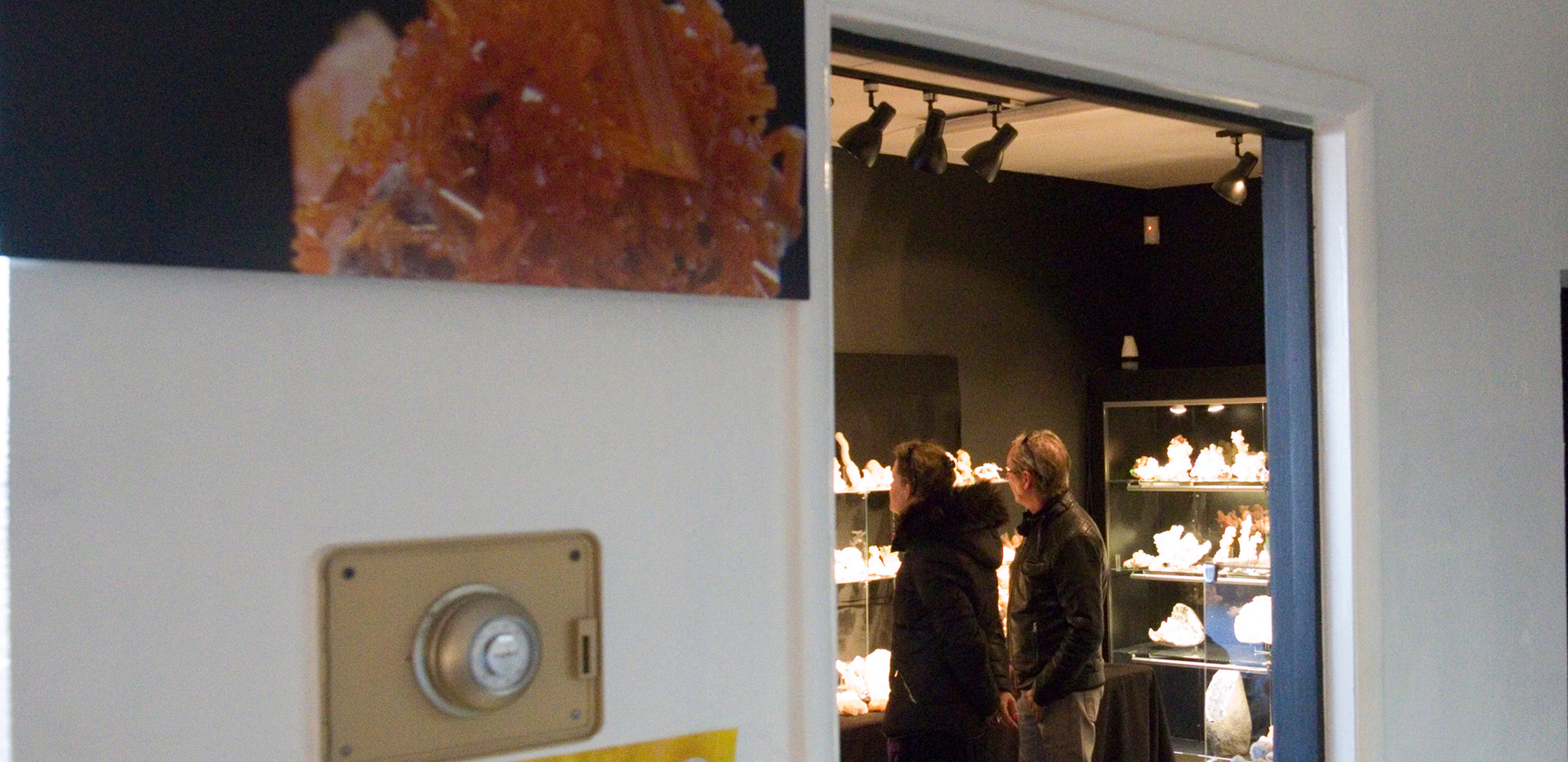 'Reflection' by Studio Mineralia installed at Superb Minerals, Tucson, Arizona