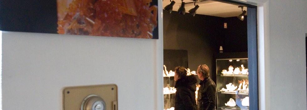 'Reflection' by Studio Mineralia installed at Superb Minerals, Tucson, Arizona