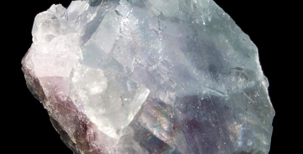 Large, Ice Blue Cubic Fluorite Crystal. Yindu Mine, Inner Mongolia, China