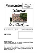 bulletin_acd_09-10-2019_n96 - L'Association culturelle de Dilbeek (ACD) a pour objet d'organiser, d'encourager et de promouvoir toute activité culturelle en langue française, auprès des habitants francophones de la commune de Dilbeek et plus largement à l'intention de tous les francophones d'autres communes de la périphérie bruxelloise.