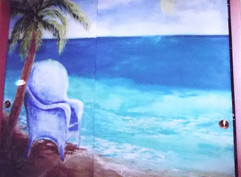 Mural on closet door 2