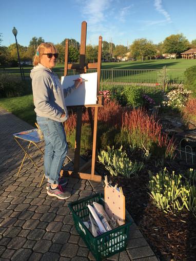 """Plein Air"" Sherri Painting Outdoors"
