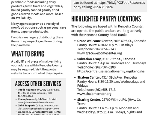 What's Next Post-Food Distribution Event?  Consider a Pantry!