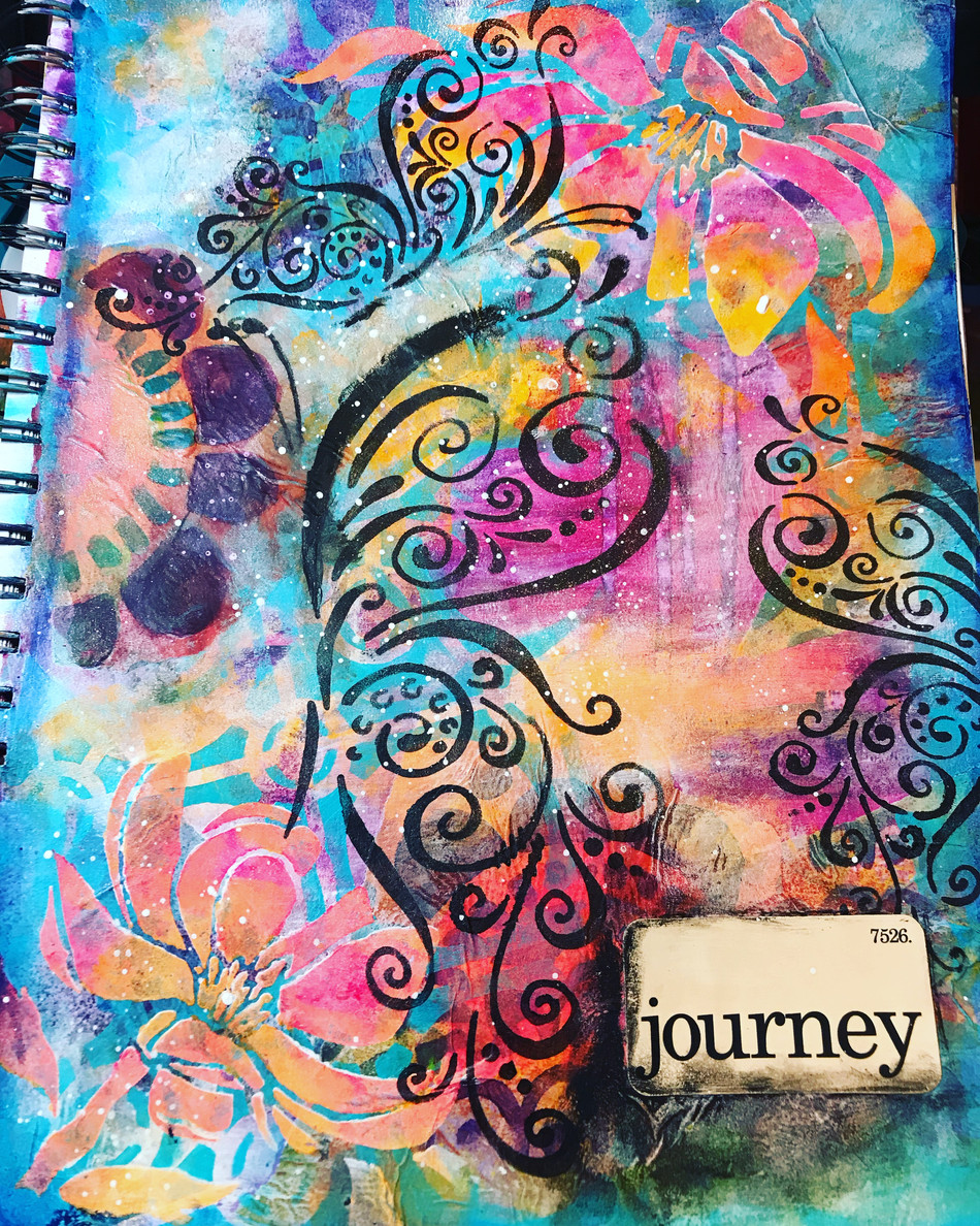 Latest art journal page