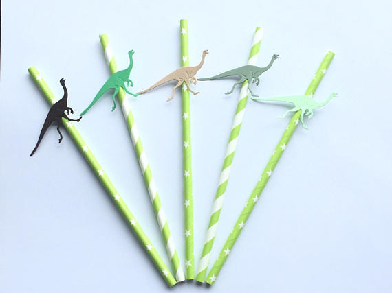 Dinosaur party straws Dinosaur Party Blog