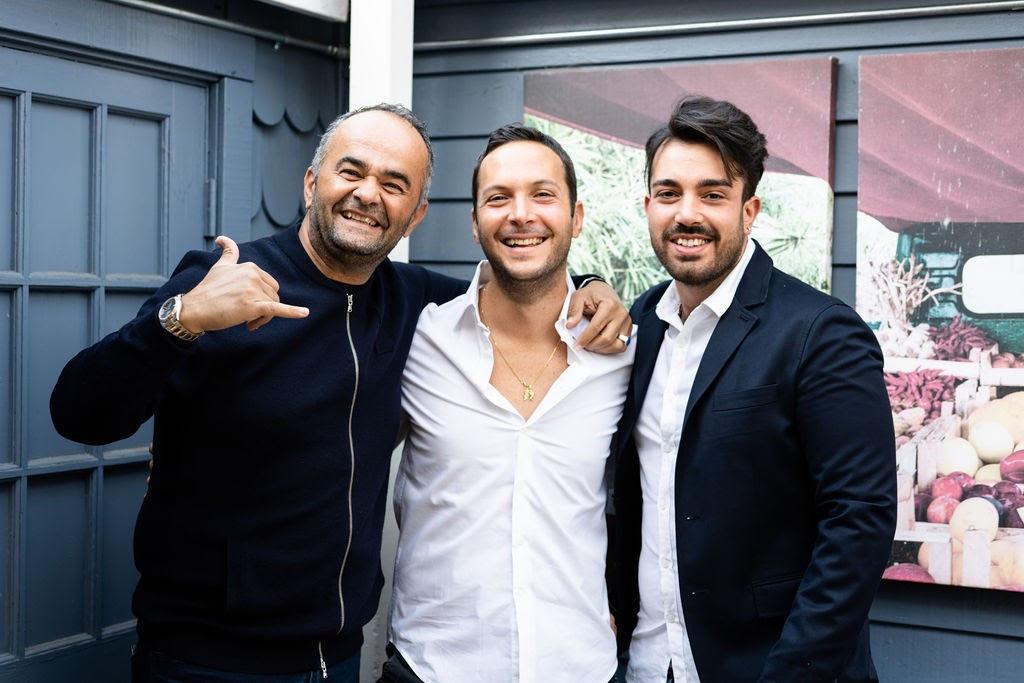 Enzo, Emanuele and Francesco