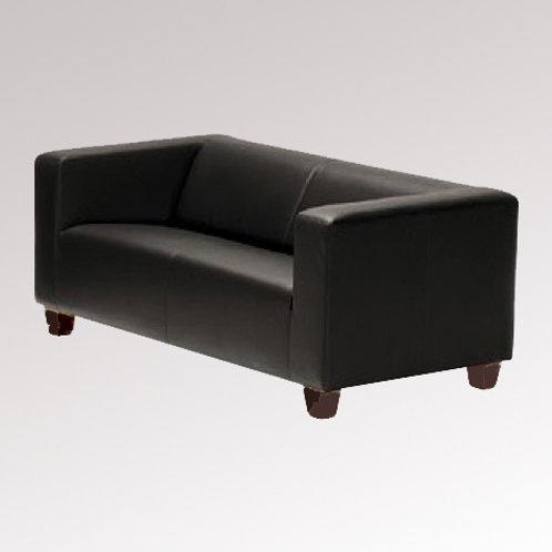 (Miete) 2er Sofa Kunstleder schwarz