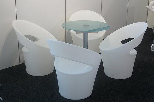 (Miete) Sessel «Tid-Jou», Kunststoff weiss