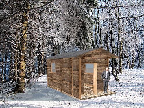 (Kauf) Holz Hüsli (Chalet) Fichte geschwärzt inkl. Aufbau Schweizweit