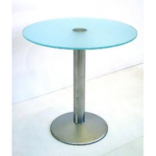 (Miete) Bistro-Tisch «Business» ø 70cm Glas matt