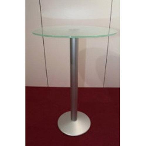 (Miete) Steh-Tisch «Business» ø 70  Glas matt