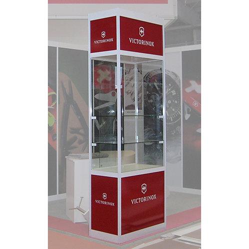 Glas-Vitrine hoch Höhe wählbar z.B 3 m