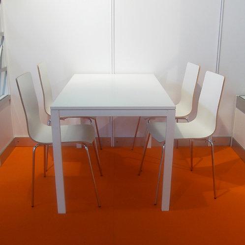(Miete) Besprechungs-Tisch 100 x 100 cm weiss