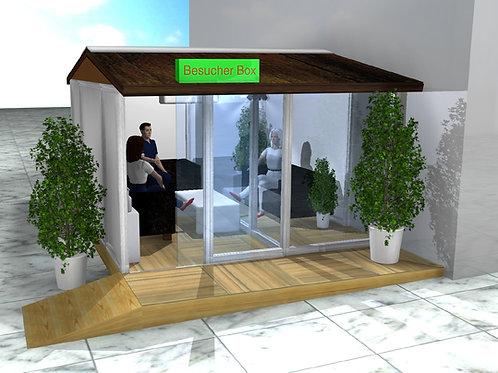(Miete) Besucher-Box (Glas-Chalet) inkl. Aufbau und Abbau Schweizweit