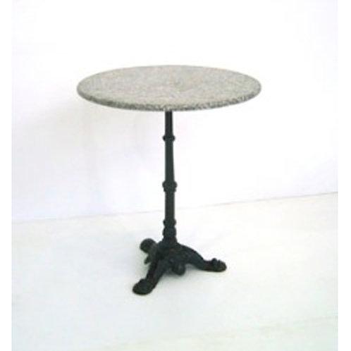 (Miete) Bistro-Tisch «Wiener» Ø 60 cm Granitsteinplatte
