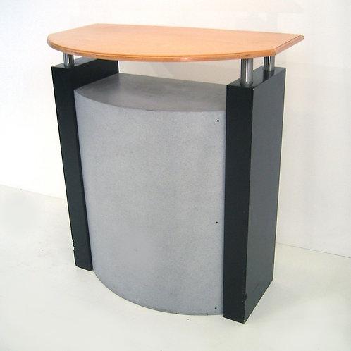 (Miete) Empfang / Info-Theke, schwarz / hellgrau , Oberfläche Holz
