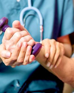 Пациент с Healthcare Nurse