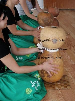 ハワイ島でフラを学ぶ イプレッスン グループ