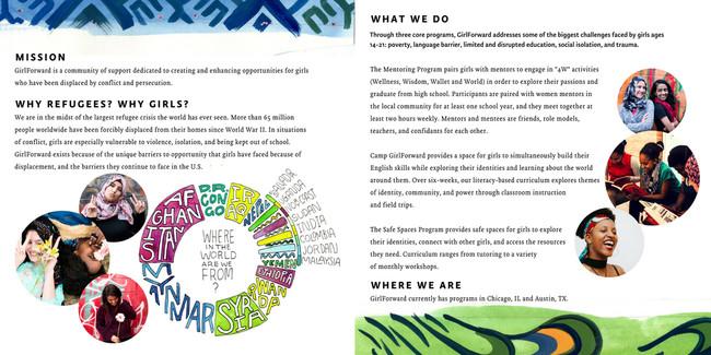 Brochure for GirlForward, Internal