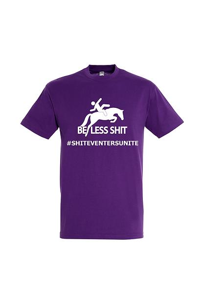 SEU01825 Be Less Shit T-shirt Ladies Fit Dark Purple
