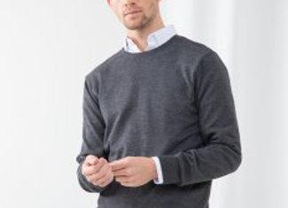 Henbury Lightweight Cotton Acrylic Crew Neck Sweater